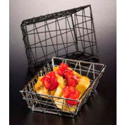 American Metalcraft BZZ95B - Zorro Basket, 9 x 6 x 2-1/2, Rectangle, Black
