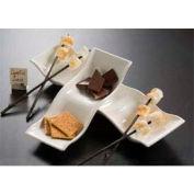 American Metalcraft CBB505 - Prestige Dish, 13 x 5 x 2-1/2, Sectional, (2) Divider, Wavy, Ceramic