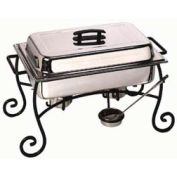 American Metalcraft CF1 - Chafer Frame & Cup, Black Wrought Iron, Ironworks Collection
