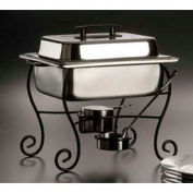 American Metalcraft CF50 - Chafer Frame & Cup, Half Size, Black Wrought Iron, Ironworks Collection