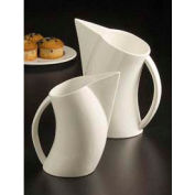 Water Pitcher, 64 Oz., Angled, White, Porcelain Min Count 4