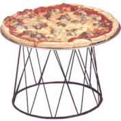 American Metalcraft DPS797 - Contempo Drum Pizza Stand, 9 x 7 x 7, Black Wrought Iron