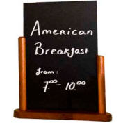 American Metalcraft ELEMME - Securit Table Board, 6 x 9, Double Sided Mahogany, Removable Blackboard