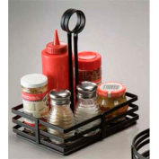 American Metalcraft FWC68 - Condiment Basket, 8 x 6 x 9-1/2, Flat Coil, Slotted Handles, Black