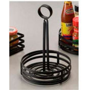 American Metalcraft FWC69 - Condiment Basket, 6 x 8-1/2, Flat, Coil, Center Slotted Handles, Black