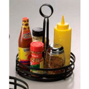 "American Metalcraft FWC89 - Condiment Basket, 8"" x 9-1/2"", Flat Coil, Center Slotted Handles, Black"