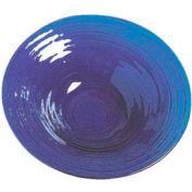 "American Metalcraft GBB15 - Bowl, 15"" Dia. x 3""D, Blue Glass"