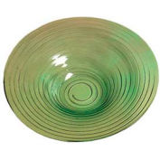 "American Metalcraft GBG19 - Bowl, 19"" Dia. x 3-1/2"" Deep, Recycled, Green-Tinted Glass"