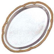 American Metalcraft GBTOV97 - Affordable Elegance Serving Tray, Oval, 9 x 7, Chrome, Gold Trim