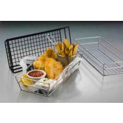 American Metalcraft GCRB2613 - Tabletop Basket, 13 x 6 x 2-1/2, Grid, Rectangular, Black