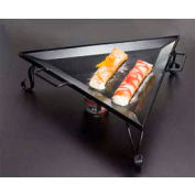 American Metalcraft GST77 - Griddle, 19-1/2 x 19-1/2 x 6, Triangular, Includes Stand, Black