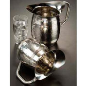 "American Metalcraft HMWP97 Bell Water Pitcher, 100 Oz., 8""H, Hammered Finish"