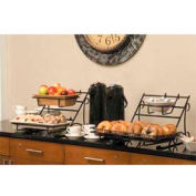 American Metalcraft HR7 - Serving Rack, Large, For Buffet Systems, Rectangular, Wrought Iron, Black