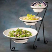 American Metalcraft IS15 - Platter Stand, Large, 3-Tiered, Black