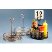 "American Metalcraft RBNB16 - Birdnest Condiment Rack, 6"" Dia., Wire, Black Finish"