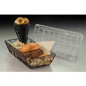 American Metalcraft ROC1362 - Zorro Basket, 13 x 6 x 2-1/2, Rectangular, Chrome