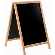 American Metalcraft SBSB135 - Securit Sandwich Board / 30 x 54 / Double Sided / Natural Frame