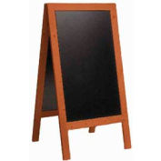 American Metalcraft SBSM135 - Securit Sandwich Board / 30 x 54 / Double Sided / Mahogany Frame