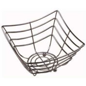 "American Metalcraft SCB480 - Space/Time Continuum Basket, 8"" Sq. x 4, Web Pattern, Chrome Finish"