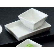 American Metalcraft SCR20 - Sauce Dish, 2 Oz., Square, Ribbed, Porcelain