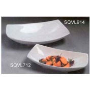 "American Metalcraft SQVL712 - Bowl, 37 Oz, 12"" x 7"" x 2-3/4"", Ceramic, White"