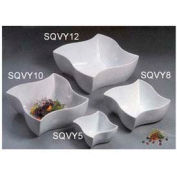"American Metalcraft SQVY10 - Squavy Bowl, 152 Oz., 10-1/2"" Dia., Porcelain, White"