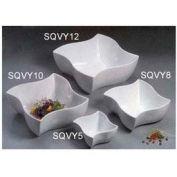 "American Metalcraft SQVY8 - Squavy Bowl, 76 Oz., 8-1/2"" Diameter, Porcelain, White"
