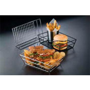 "American Metalcraft SSRT962 - Basket, 9"" x 6"" x 2-1/2"", Rectangle, Grid Bottom"
