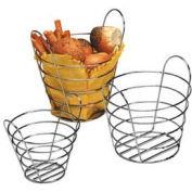 "American Metalcraft WBC705 - Basket, Round, 7"" Dia. x 5-1/2""H, Chrome Wire"