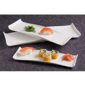 "American Metalcraft WLD13 - Platter, 13-1/2"" x 4-1/2"", Rectangular, White Porcelain, Curved Ends"