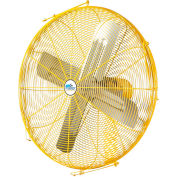 "Airmaster Fan 30"" Channel Mount Yellow Safety Fan - 2 Speed Pull Chain Switch 10253K 1/3 HP 6915 CFM"