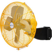 "Airmaster Fan 30"" Beam Mount Yellow Safety Fan - 2 Speed Pull Chain Switch 10254K 1/3 HP 6915 CFM"