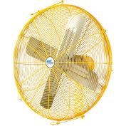 """Airmaster Fan 24"""" Channel Mount Yellow Safety Fan - 2 Speed Drop Cord Switch 10735K 1/3 HP 5280 CFM"""