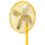 """Airmaster Fan Yellow Coated Hinged Guards And Propeller For 24"""" Yellow Safety Fan 11080"""
