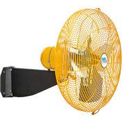 """Airmaster Fan 20"""" Wall Mount Yellow Safety Fan - 2 Speed Drop Cord Switch 12205K 1/3 HP 3637 CFM"""