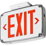 Lithonia Lighting WLTE W 1 R EL Wet Location Exit Sign, White