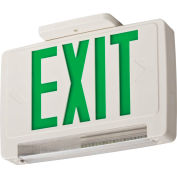 Lithonia Lighting ECBG LED M6 LED Integrated Exit-Unit Combo, White W/Green Letters