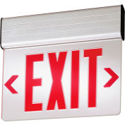 Lithonia Lighting EDGNY 2 R EL M4, Surface Mount LED Edge-Lit Exit Sign, Double-Face Self Powered