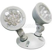 Lithonia ELA T QWP L0304 M12 LED Emergency Light Remote Head, Gray, Twin Alum Head, 1.5w, 3.6V LED