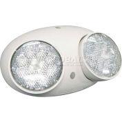 Lithonia ELA T Q L0304 M12 LED Emergency Light Remote Head,White, Twin Head, 1.5W 3.6 Volt LED Lamps