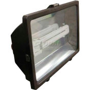 Lithonia F13L 120 M12 Contractor Select Cast-Glass Floodlight, Fluorescent Lamps, 13w