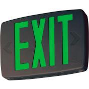 Lithonia Lighting LQM S 3 G 120/277 EL N M6 - LED Black Thermoplastic Exit Sign
