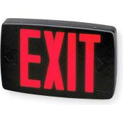Lithonia Lighting LQM S 3 R 120/277 EL N M6 - LED Black Thermoplastic Exit Sign
