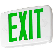 Lithonia LQM S W 3 G 120/277 EL N SD M6 White Thermoplastic LED Exit with Green Letters