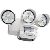 Lithonia Lighting OFLR 9LN 120 MO WH M2, LED Flood Light, Motion Sensor, 3-Head, 2063 Lumens, White