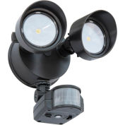 Lithonia Lighting OLF 2RH 40K 120 MO BZ M6, LED Flood Light, Motion Sensor, 2-Head 4000K, Bronze