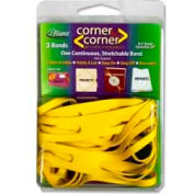"""Alliance® Corner-To-Corner™ Rubber Bands, 8-1/2"""" x 5/8"""", Yellow, 3/Pack"""