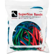 "Alliance® Supersize Bands™ Rubber Bands, 12"", 14"", 17"" x 1/4"", Red, Green, Blue, 24/Pack"