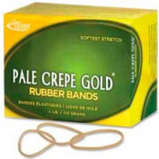 "Alliance® Pale Crepe Gold® Rubber Bands, Size # 16, 2-1/2""x 1/16"", Natural, 1/4 lb. Box"