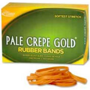 "Alliance® Pale Crepe Gold® Rubber Bands, Size # 18, 3""x 1/16"", Natural, 1 lb. Box"